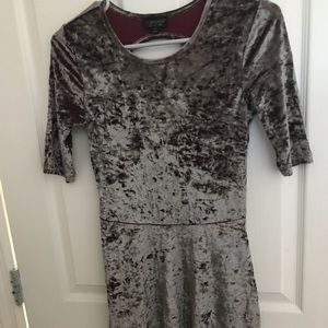 Topshop crushed velvet dress